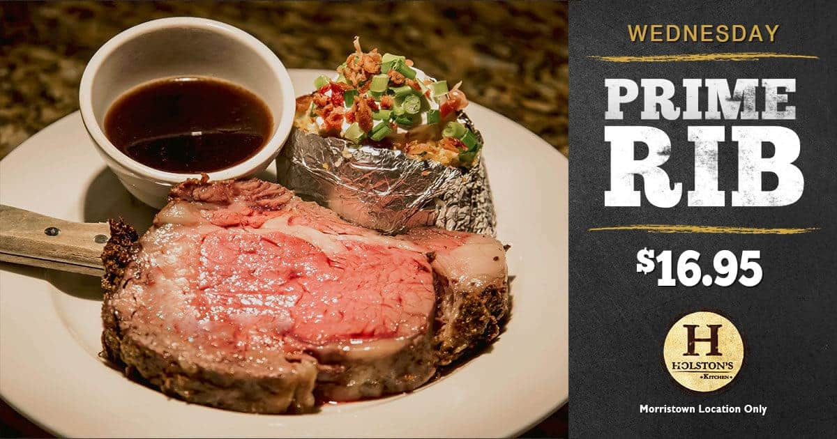 Holstons Morristown New Specials Prime Rib